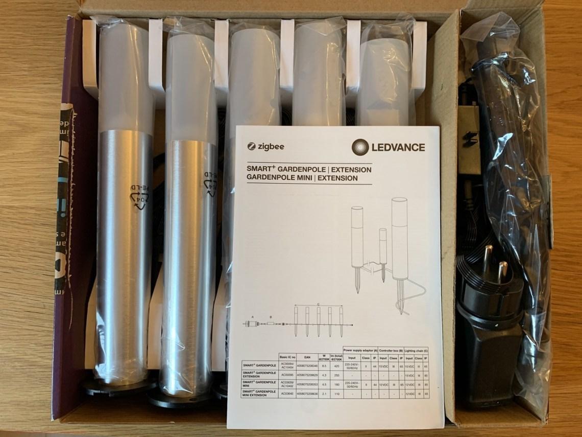 Ledvance Smart+ Garden Pole - Intérieur de la boite