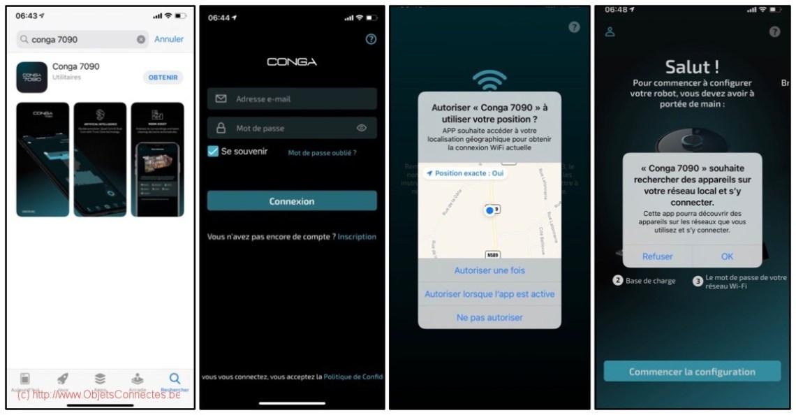 Aspirateur-Robot-Conga-Cecotec-App