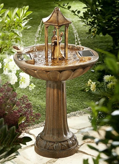 fontaine solaire bain d oiseaux romantique danseurs fontaines solaires objetsolaire