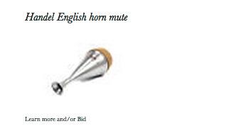Handel English Horn Mute