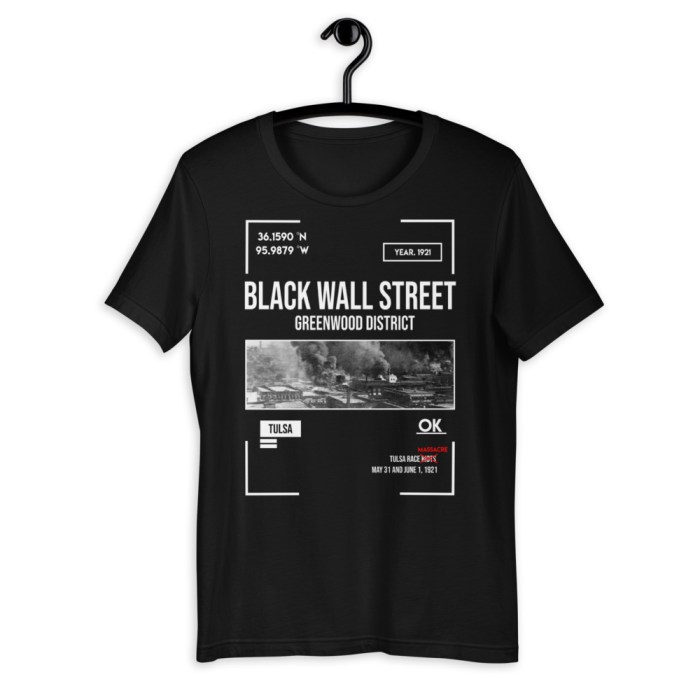 Black Wall Street Tulsa Oklahoma Greenwood Short-Sleeve Black History Tee