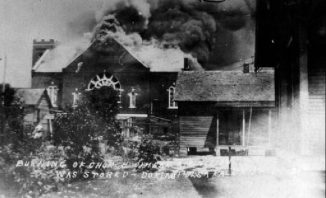 Tulsa-black-wall-street-home-burning