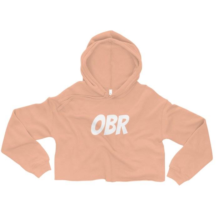OBR Crop Hoodie - Peach crop top hoodie
