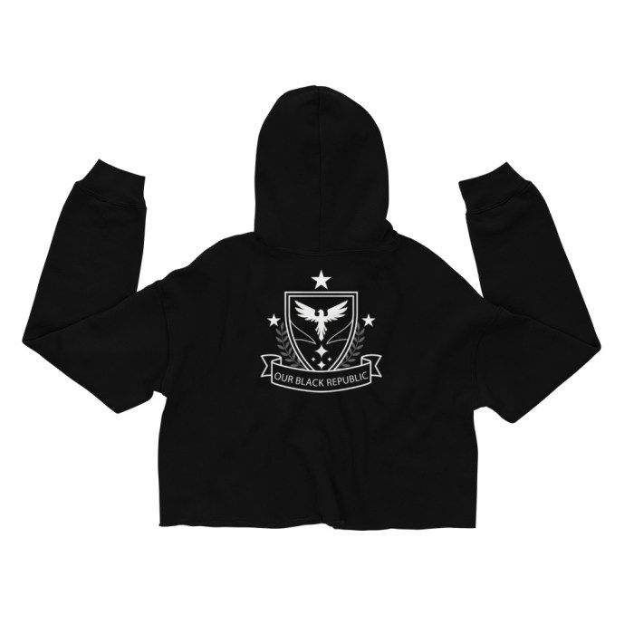 OBR Crop Hoodie - black crop top hoodie