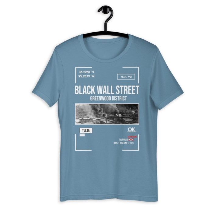 Black Wall Street Greenwood District Greenwood Tulsa Race Graphic Black T Shirt Men And Women