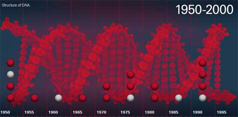 Estrutura do DNA - 1950 a 2000