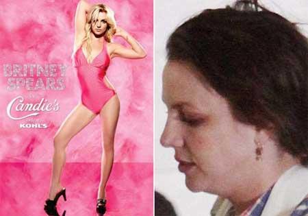 Britney Spears, um abismo entre sua aparência na publicidade e na vida real