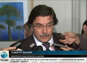 Ministro de Educación, Alberto Sileoni