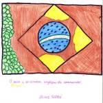 Aline Soré - desenho Bandeira