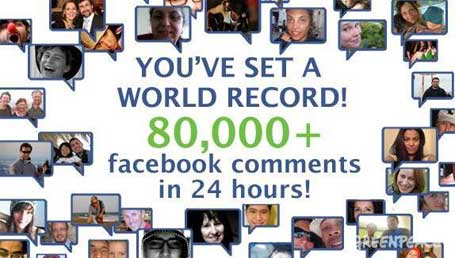 Greenpeace record mundial 80.000 pedem energia verde Facebook