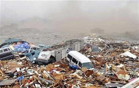 Devastação provocada pelo movimento da terra no terremoto