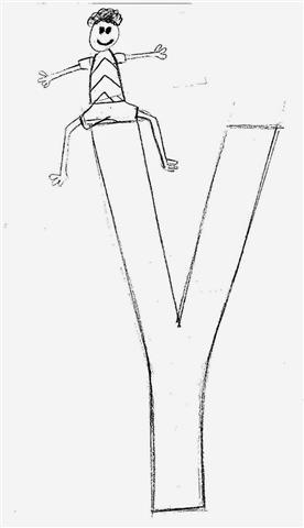 historinha infantil com as letras do alfabeto- Y