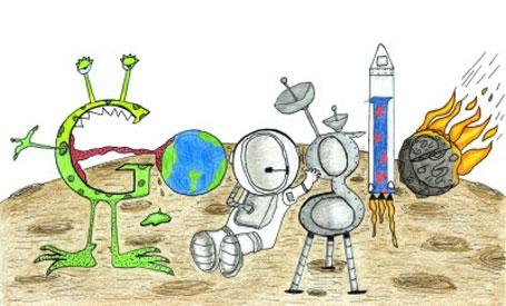 Desenho doodle do ano