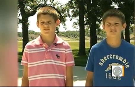 Foto dos gêmeos