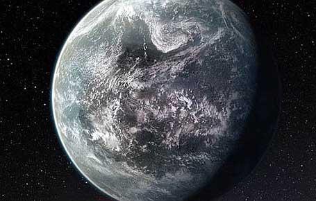 Imagem da super-Terra HD 85512 b com provável vida extraterrestre
