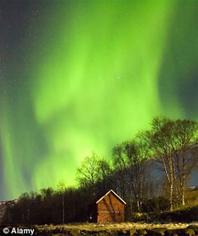 Imagem de uma Aurora Boreal (Foto reprodução)