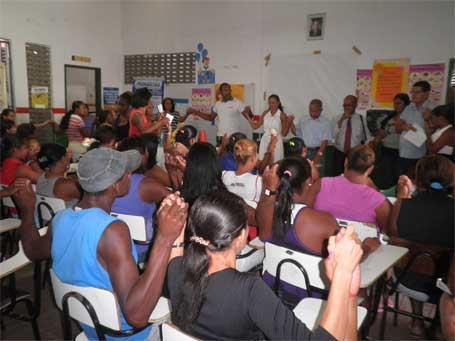 Foto 1: lançamento do projeto educação e segurança em Humildes