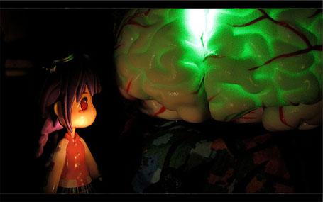 Ilustração inteligência humana cérebro