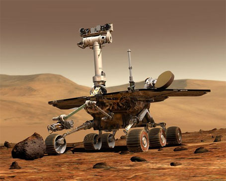 Imagem da Nasa do Robô opportunity em Marte