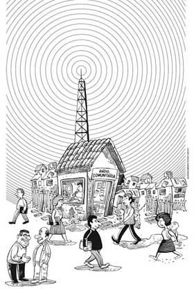 Ilustração rádio comunitária