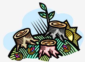 Ilustração desmatamento