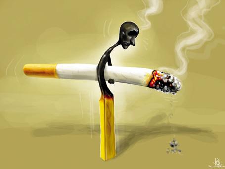 Ilustração fumante