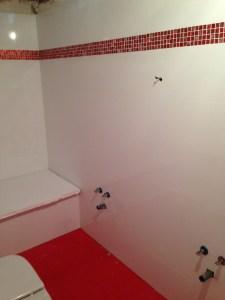 Obra de cuarto de baño. Fontanería y electricidad