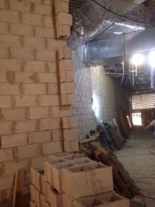 Construcción de muro con bloques de hormigón