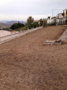 Preparación de terreno. Trabajo de jardinería en Málaga