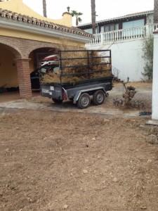 Mantenimiento de jardines. Preparación de terreno