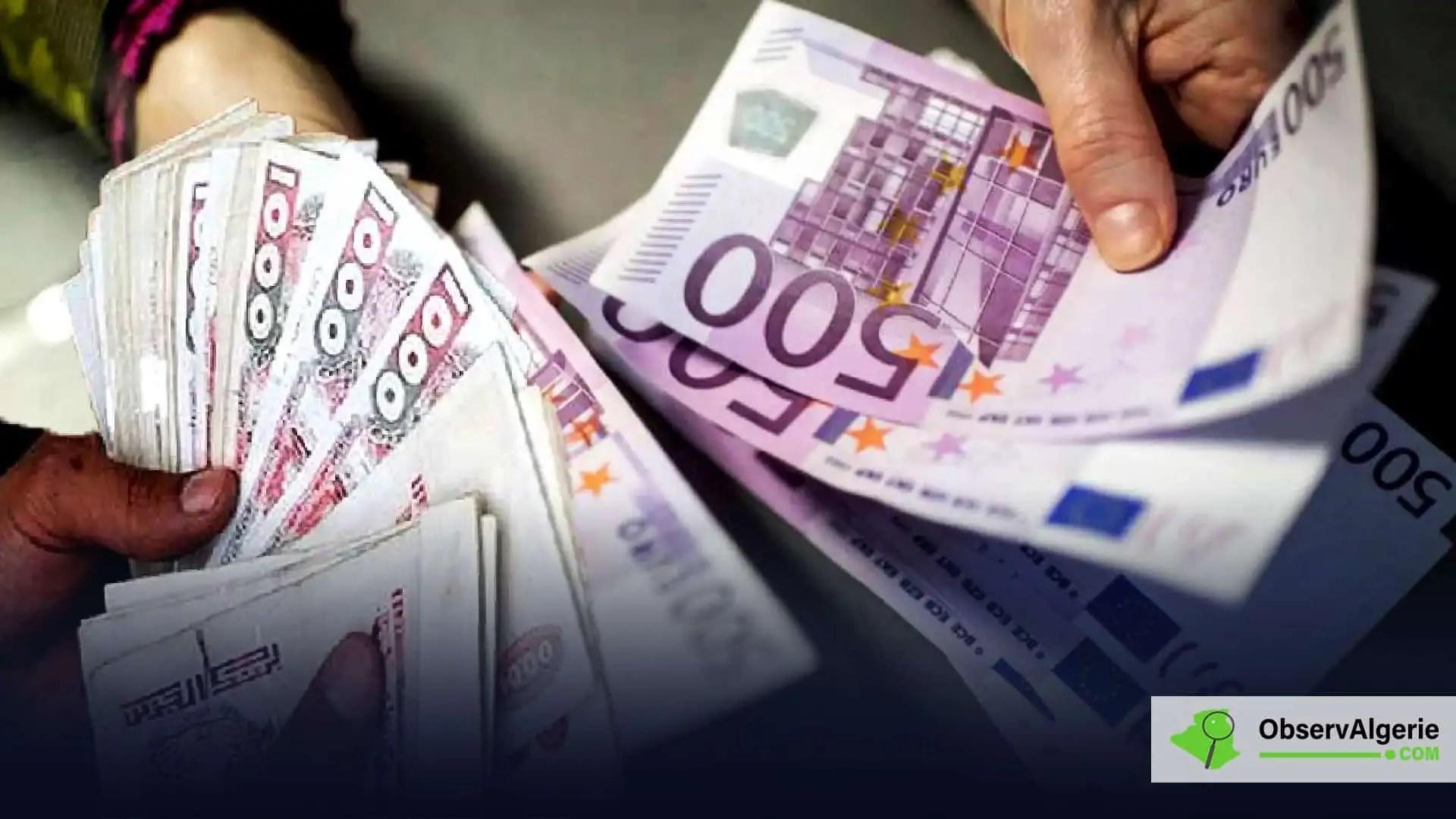 En nette baisse face à l'euro dans les cotations officielles, le dinar algérien se stabilise sur le marché parallèle