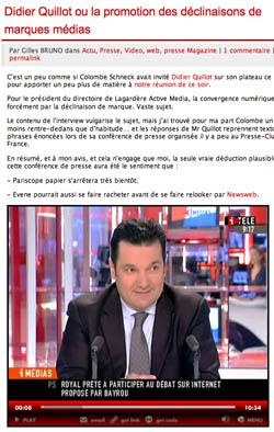 Didier Quillot sur l observatoire des medias