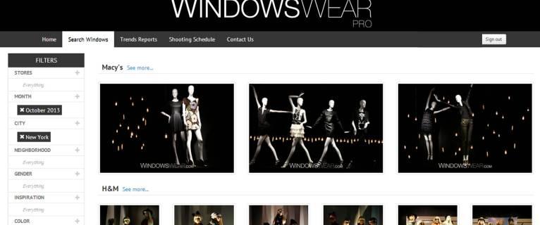 WindowsWear Le Google Earth des vitrines de la mode