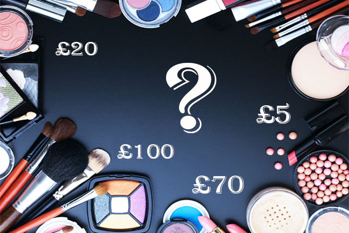Guess cost of makeup beauty quiz