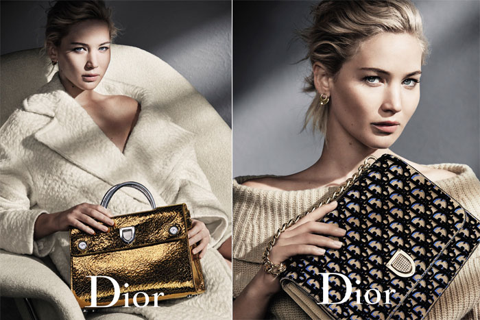 Dior campaign jennifer lawrence aw16 diorever bag