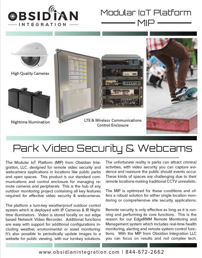 Wireless Public Park Security Camera