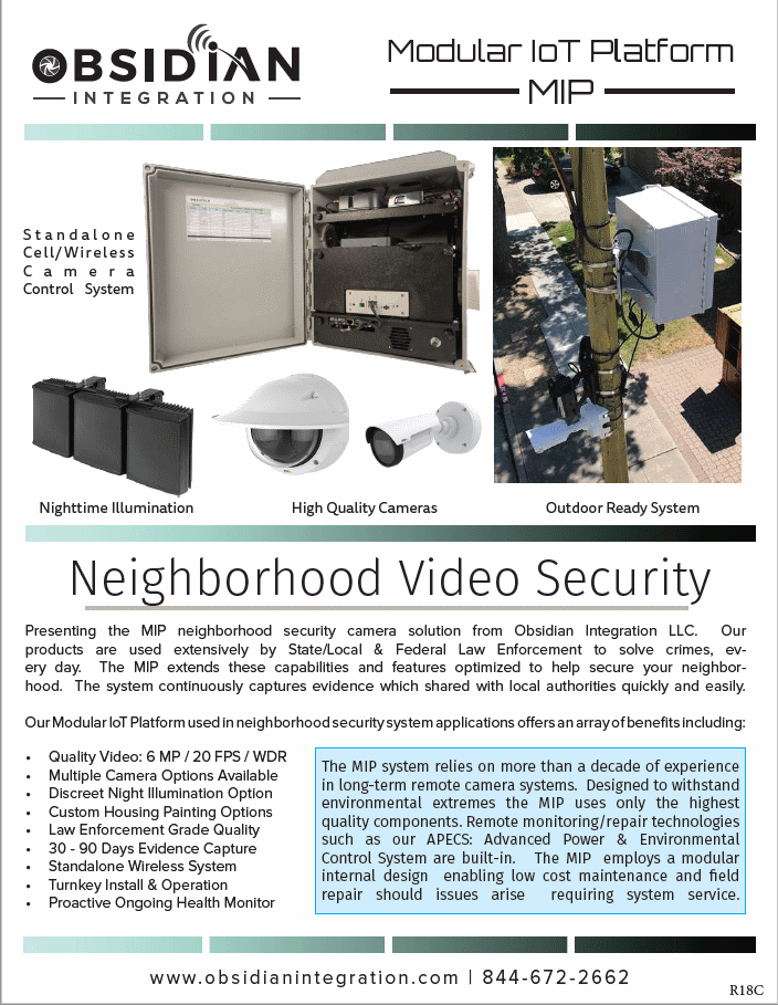 HOA & Neighborhood Wireless Security Camera
