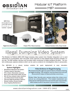 Wireless Illegal Dumping Surveillance Camera