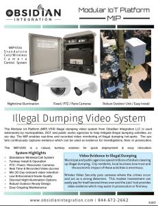 Wireless Illegal Dumping Surveillance Camera