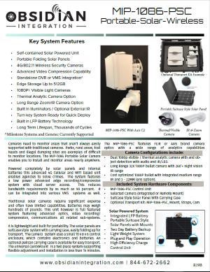 MIP 1086 Wireless Portable Solar Camera