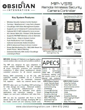 MIP VS15 Wireless Cloud Camera Controller