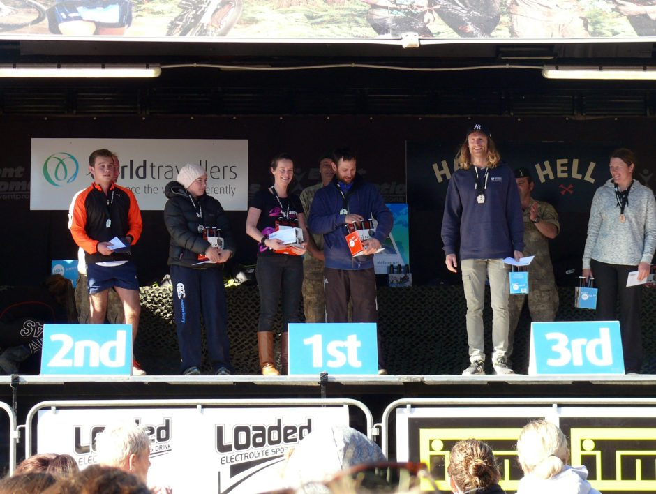 Tough Guy and Gal Palmerston North 2017 12km podium under 39