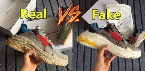 Vrai vs Fausse Balanciaga Triple S