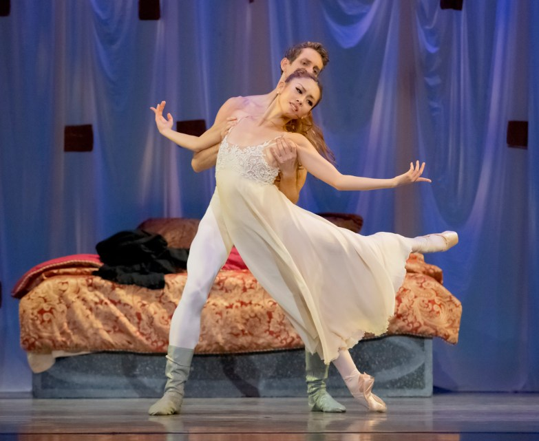 "Ansa Deguchi and Brian Simcoe in James Canfield's ""Romeo & Juliet""."