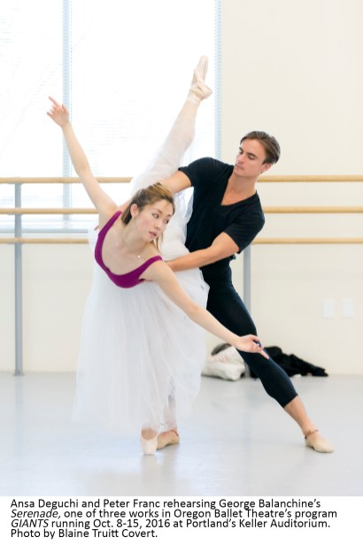 Oregon Ballet Theatre's program GIANTS