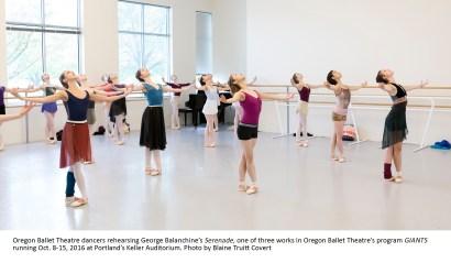 Oregon Ballet Theatre's program GIANTS running Oct. 8-15, 201