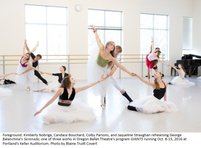 "Oregon Ballet Theatre,studio rehearsal,""Serenade"",choreography by George Balanchine"