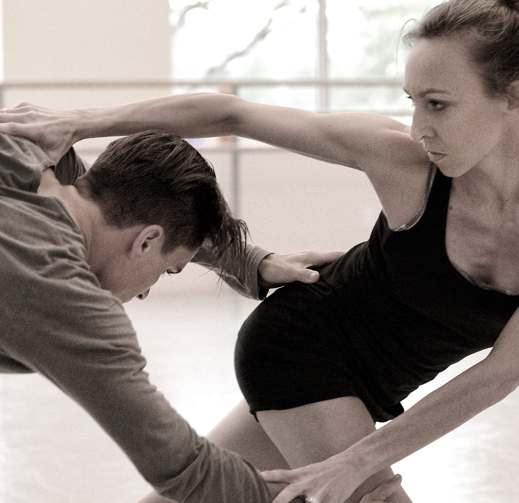 Peter Franc and Jacqueline Straughan rrhearsals for Choreography XX | Photo by Michael Slobodian