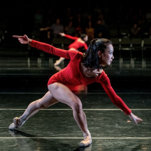 Xuan Cheng and OBT dancers performing in Helen Simoneau's 'Departures', part of Oregon Ballet Theatre's Closer, May 24 - June 3, 2018 at the BodyVox Dance Center. Photo by Yi Yin