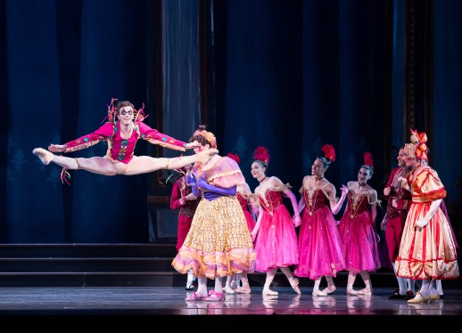 "Avery Reiners (as the Jester) in the company premiere of Ben Stevenson's ""Cinderella,"" running February 28 - March 7, 2015, at Portland's Keller Auditorium. Photo by Jingzi Zhao."
